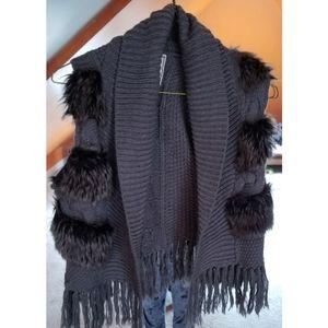Knit Faux Fur Vest